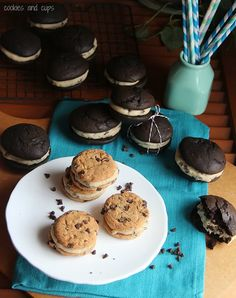 Chocolate Chip Cookie Dough Whoopie Pie