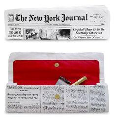 Kate Spade Newspaper Clutch New York Journal NWT