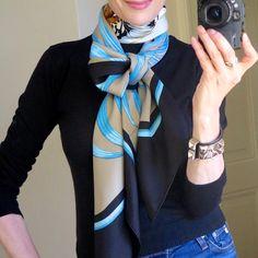 How To Wear Pashminas Scarf Knots 45 Ideas Ways To Wear A Scarf, How To Wear Scarves, Fall Outfits, Casual Outfits, Fashion Outfits, Fashion Tips, Fashion Clothes, Fashion Fashion, Womens Fashion