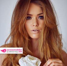 karamel saç modeli
