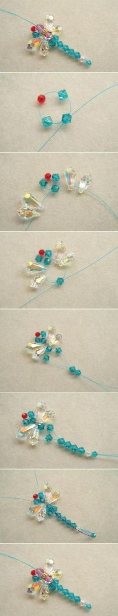 #DIY Beaded Dragonfly #Crafts by crazy sheep