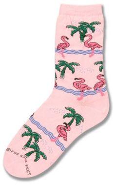 Pink flamingo socks