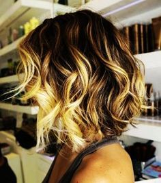 Short Curls with Golden Highlights...
