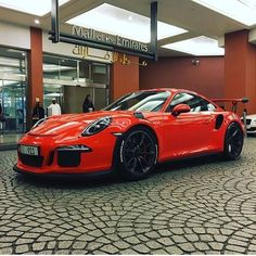 A Porsche 911 GT3 RS. Wow, what a car. Only thing is that its really expensive. I want it home!