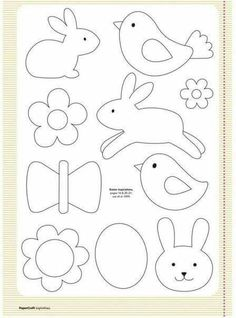 Free templates from your april issue papercraft inspirations easter clipart ideas Applique Templates, Applique Patterns, Applique Designs, Easter Templates, Bird Template, Owl Templates, Crown Template, Heart Template, Stencil Patterns