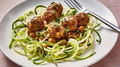 Pork Meatballs with Courgetti