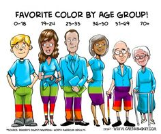 Psychology of Color Cartoon Infographic