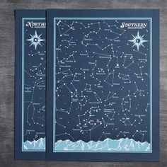 Star Map Star Chart Constellation Print Constellation Map