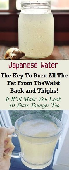 health fitness - Japanese Water The Key To Burn All The Fat From The Waist, Back And Thighs ! It Will Make You Look 10 Years Younger Too Diet Drinks, Healthy Drinks, Healthy Tips, Healthy Recipes, Healthy Food, Beverages, Health Diet, Health And Wellness, Wellness Tips