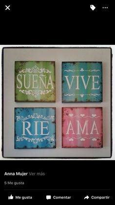 Cuadros para decoración Wal Art, Diy And Crafts, Arts And Crafts, Foto Transfer, Home And Deco, Wood Signs, Pattern Design, Stencils, Projects To Try