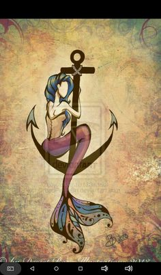 Mermaid Anchor by DreadPirateBri I love love this…I'm thinking for a thigh tattoo Zeemeerminanker door DreadPirateBri Ik ben dol op dit … Ik denk aan een dijtattoo Mermaid Anchor Tattoo, Mermaid Tattoos, Mermaid Thigh Tattoo, Anchor Tattoos, Desenho Tattoo, Mermaids And Mermen, Mermaid Art, Trendy Tattoos, Future Tattoos