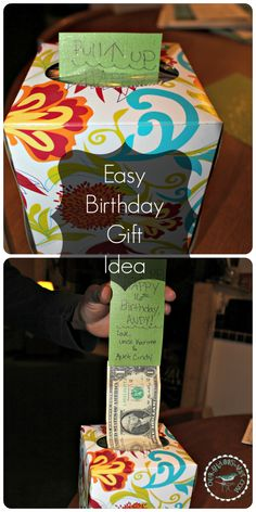 DIY money gift idea, gift ideas for men or boys, teenage birthday present ideas- wrap it up for parties! Via ourshabbynest.com