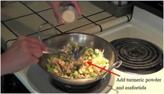 Add turmeric powder and asafoetida How To Cook Kale, Diabetic Friendly, Base Foods, Plant Based Recipes, Turmeric, Guacamole, Diabetes, Keto Recipes, Meal Planning