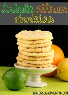 They are super easy and your entire kitchen smells cleaner as you make them. Nothing smells fresher . Lemon Cookies, Yummy Cookies, Sugar Cookies, Brownie Cookies, Cookie Bars, Cookie Recipes, Dessert Recipes, Desserts, Sweet Life