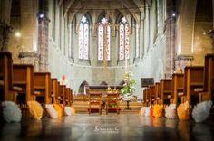 décoration église originale pompom papier