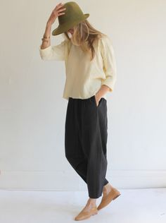 Black Crane Carpenter Pants - Black...lengthen Marcy Tilton pants pattern