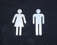 Signos de baño de hombres y mujeres   Signos de Metal del corte del laser