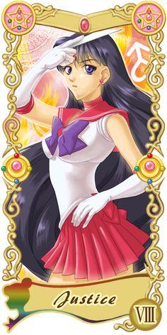 Pretty Guardian Sailor Moon Original Tarot Cards: VIII - Justice | by Ryukia @ Pixiv.net // #sailormoon