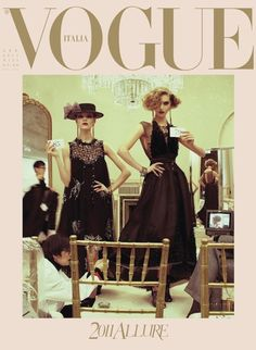 Steven Meisel goes old school on us in the January 2011 issue of Vogue Italia with the magnificent cover story, 'The Power of Glamour'. Styled by Karl Templer, the featured models are Arizona Muse, Freja Beha Erichsen, Herieth Paul, Kinga Rajzak, Anais Mali and Fei Fei Sun.