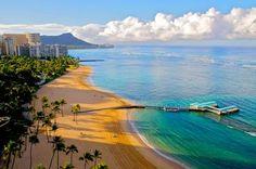 Wakiki Beach, Hawaii. Our honeymoon destination :)