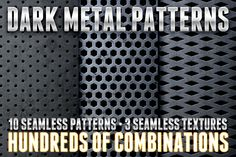 Check out Dark Metal Pattern Pack 1 by Design Panoply on Creative Market