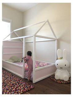 Ikea Bedroom, Baby Bedroom, Girls Bedroom, Kid Bedrooms, Toddler Floor Bed, Toddler Rooms, Kids Rooms, Kids Bedroom Ideas For Girls Toddler, Ikea Toddler Bed
