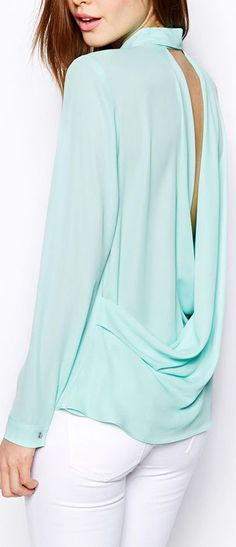 draped back blouse