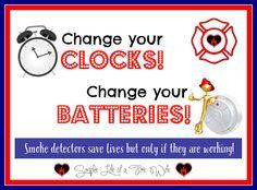Time Change; Smoke Detectors  Simple Life of a Fire Wife www.simplelifeofafirewife.com