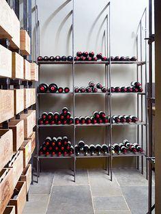 Tour Rose Uniacke's Regal London Townhouse // wine cellar, wine storage