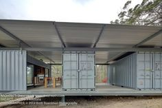 Container House - Container Retreat, Drew Heath - Who Else Wants Simple Step-By-Step Plans To Design And Build A Container Home From Scratch? Container Homes Australia, Cargo Container Homes, Container Shop, Building A Container Home, Container Cabin, Storage Container Homes, Shipping Container Buildings, Shipping Container House Plans, Shipping Containers