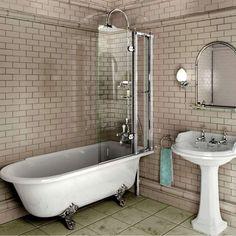 Burlington Hampton Roll Top Shower Bath | Burlington-Hampton-Shower-Bath | Drench