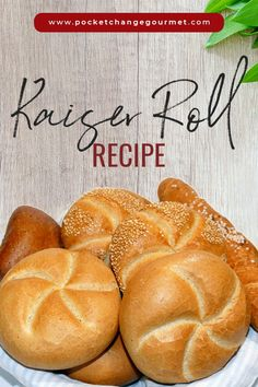 Kaiser Roll as a Royal Food to the Emperors Sandwich Roll Recipe, Homemade Sandwich, Rolls Recipe, Homemade Hamburger Buns, Hamburger Bun Recipe, Kaiser Bun Recipe, Pastry Recipes, Cooking Recipes, Gourmet
