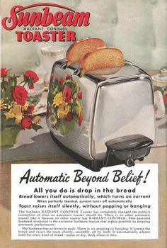 Sunbeam Toaster, 1950. Automatic beyond belief!!