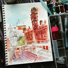 https://flic.kr/p/KgN4Wd   View from my hotel window. Oxford Street Manchester. #uskmanchester2016 #urbansketch #watercolour…