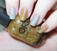 ORLY Mirrorball & Bling Holo Polishes & Born Pretty Houndstooth Decals from All Things Beautiful XO #nails #nailart #holo