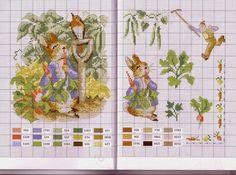 schemi punto a croce Beatrix Potter 6   Hobby lavori femminili - ricamo - uncinetto - maglia