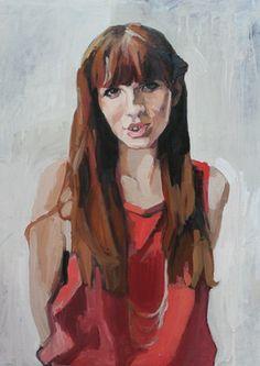 "Saatchi Online Artist Erin Fitzpatrick; Painting, ""Jonna"" #art"