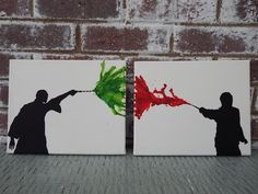 Harry Potter Canvas Art Set Harry Voldemort by TheFacelessWomen