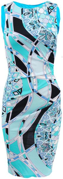 "Love this: Sleeveless Fitted Ruched Side Dress  HUGE COMEBACK FOR ""2014"" Emilio Pucci The pattern to be seen in ... dressmesweetiedarling"