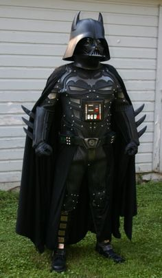 Darth Knight?  Bat Vader?  I don't know what is happening here, but I think I like it.