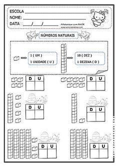 NÚMEROS NATURAIS - TRABALHANDO COM O MATERIAL DOURADO - 1º ANO/ 2º ANO