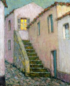 Staircase, Henri Le Sidaner, 1933.  Tuesday's Top Ten...because I still love this artist!