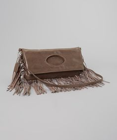 Look at this Brown Fringe Clutch on #zulily today!