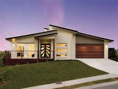 Search new home designs in Australia. Refine the search and discover the best house designs and floor plans from the top builders for your dream home. Modern Bungalow House Design, House Roof Design, House Outside Design, Modern Exterior House Designs, Facade House, Contemporary House Plans, Modern House Plans, Architectural House Plans, Beautiful House Plans