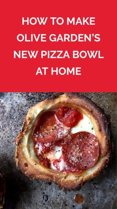 I Made a Mini Pepperoni Pizza Bowl That's So Much Better than Olive Garden's | Olive Garden's Meatball Pizza Bowls have excited pizza-lovers everywhere. But what if we told you you could make a pizza bowl yourself—minus the stomachache? Our miniature version is even tastier than the original, and will be out of the oven in 15 minutes.