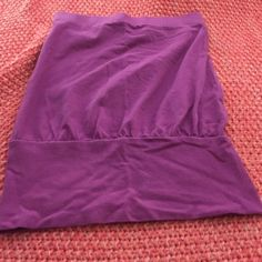 Vs bra top Beautiful purple strapless tank gathers at hip drapey with built in bra awesome look for summer with shorts or maxi skirt Victoria's Secret Tops Tank Tops