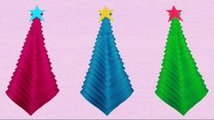 Paper Chrismas Tree making for Christmas decorations Paper Craft Making, How To Make Paper, Diy Paper, Paper Crafts, Origami Christmas, Christmas Crafts, Christmas Decorations, Christmas Tree, Diy Origami