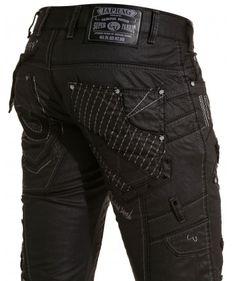 Jeans homme huilé noir design