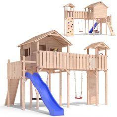 Stunning PONTICULUS playtower climbing frame slide swing treehouse Playground