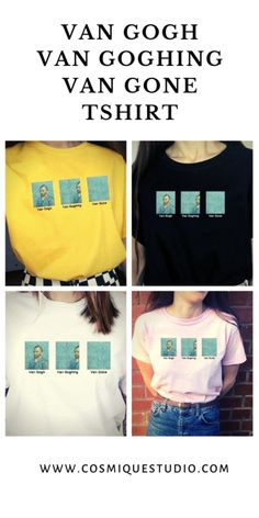 The best Van Gogh Tshirt For Art Lovers. Best time to shop! Retro Outfits, Grunge Outfits, Cute Casual Outfits, Fashion Outfits, Aesthetic Grunge Outfit, Aesthetic Fashion, Aesthetic Clothes, Korean Girl Fashion, Tumblr Outfits